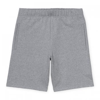 Carhartt Wip Pocket Sweat Shorts in Grey Heather