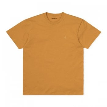 Carhartt Wip S/s Chase Tshirt in Winter Sun/gold