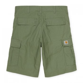 Carhartt Wip Regular Cargo Shorts Dollar in Green Rinsed