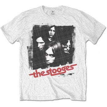 Rock Off Stooges Four Faces White