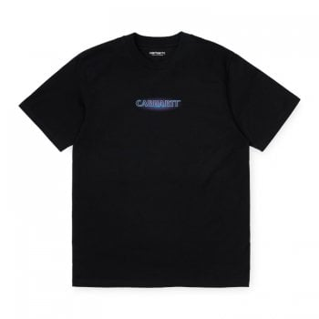 Carhartt Wip short sleeved Neon Script T Shirt in Black