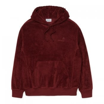 Carhartt Wip Hooded United Script Sweat Bordeaux