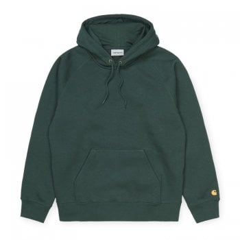 Carhartt Wip Hooded Chase Sweat Dark Teal/gold