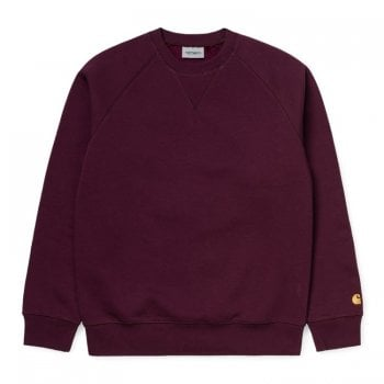 Carhartt Wip Chase Sweat Bordeaux/gold