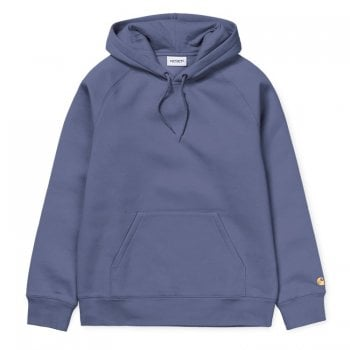 Carhartt Wip Hooded Chase Sweat in Cold Viola with gold Carhartt C embroidered logo