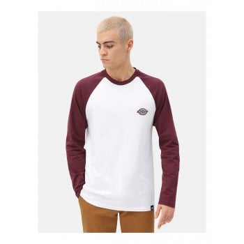 Dickies Youngsville L/s Baseball T Shirt Maroon