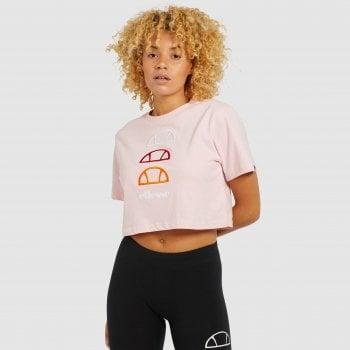 Ellesse Deway Crop T Shirt Light Pink