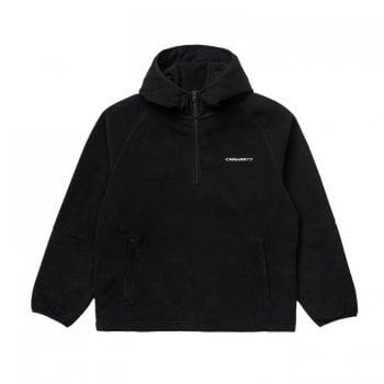 Carhartt Wip Black/wax Hooded Beaumont Half Zip Sweat