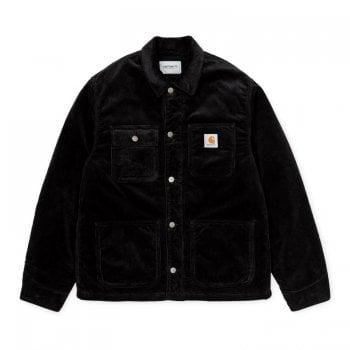 Carhartt Wip Michigan Coat in Black Rinsed cord