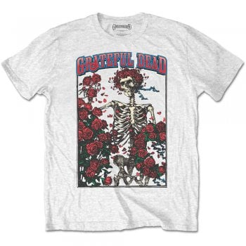 Rock Off Bertha & Logo Grateful Dead White