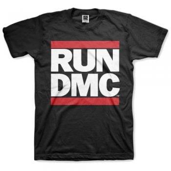 Rock Off Run Dmc Logo Tee Black