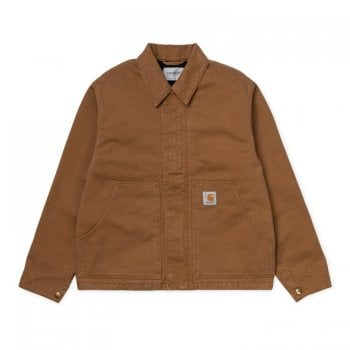 Carhartt Wip Arcan Jacket in Hamilton Brown Rinsed Naperville twill
