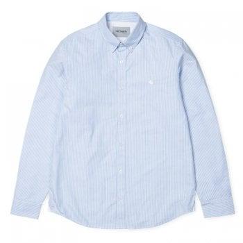 Carhartt Wip L/s Duffield Shirt in Bleach/white cotton