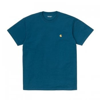 Carhartt Wip short sleeved Chase T shirt Corse Blue