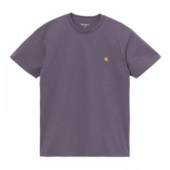 Carhartt Wip short sleeved Chase T shirt in Provence Purple