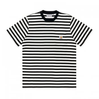Carhartt Wip short sleeved Scotty Pocket T Shirt in black and white stripes