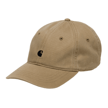 Carhartt Wip Madison Logo Cap Leather colour cotton with black embroidered Carhartt logo