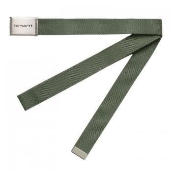 Carhartt Wip Clip Belt Chrome Dollar Green