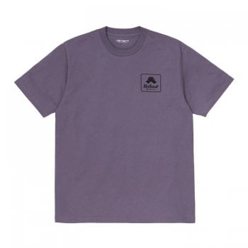 Carhartt Wip short sleeved Peace T Shirt in Provence purple with black print