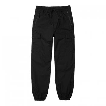 Carhartt Wip Cargo Joggers in Black Rinsed 6.5 oz Columbia ripstop cotton