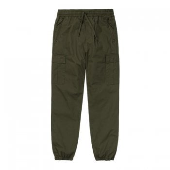 Carhartt Wip Cargo Joggers in Cypress Rinsed 6.5 oz Columbia ripstop cotton
