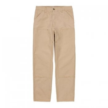 Carhartt Wip Double Knee Pants in Dusty Hamilton Brown Worn Canvas