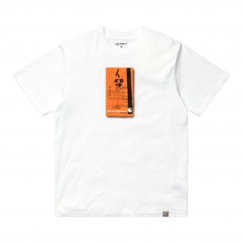 Carhartt Wip short sleeved Interception T Shirt in White