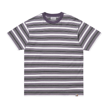 Carhartt Wip short sleeved Otis striped T Shirt in Provence purple