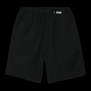Carhartt Wip Clover Shorts in Black stone washed 6oz cotton poplin