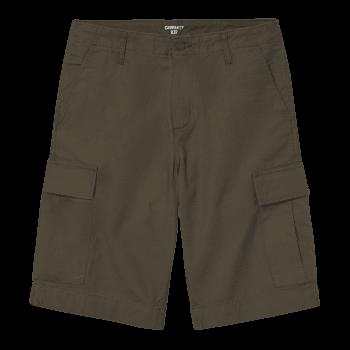 Carhartt Wip Regular Cargo Shorts in Cypress green Rinsed 6.5 oz Columbia ripstop cotton