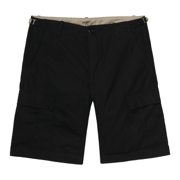 Carhartt Wip Aviation Short in Black 6.5 oz Columbia ripstop cotton
