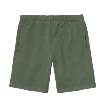 Carhartt Wip Pocket Sweat Shorts in Dollar Green