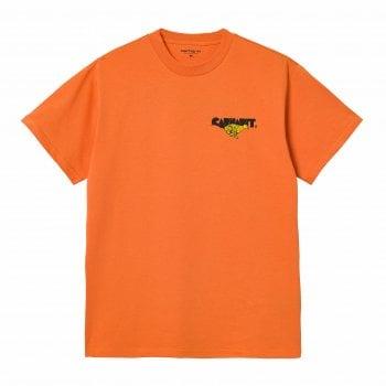 Carhartt Wip short sleeved Runner T Shirt in Hokkaido orange