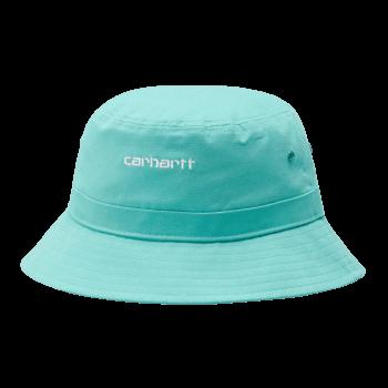 Carhartt Wip Script Bucket Hat in Bondi with white embroidered Carhartt Script logo