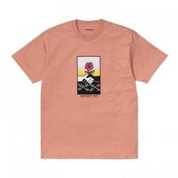 Carhartt Wip short sleeved Together T Shirt in Melba pink