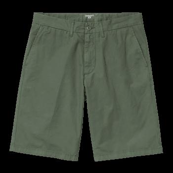 Carhartt Wip Johnson Shorts in Dollar Green 7oz Midvale cotton twill