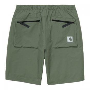 Carhartt Wip Hurst Shorts in dollar green 4.1 oz mechanical ripstop stretch fabric