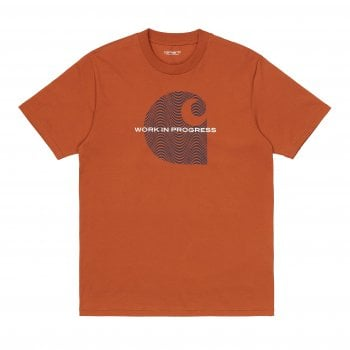 Carhartt Wip short sleeved Wave C T Shirt in Copperton