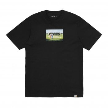 Carhartt Wip short sleeved Hole 19 T Shirt in Black organic cotton