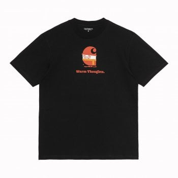 Carhartt Wip short sleeved Warm Thoughts T Shirt in Black
