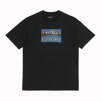 Carhartt Wip short sleeved Great Outdoors T Shirt in Black