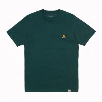Carhartt Wip short sleeved Trap C T Shirt in Frasier green