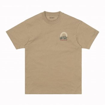 Carhartt Wip short sleeved Mountain T Shirt in Tanami