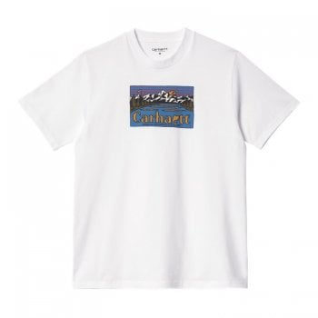 Carhartt Wip short sleeved Great Outdoors T Shirt in White