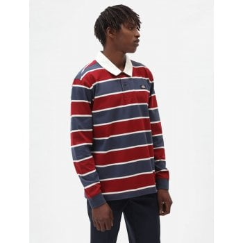 Dickies Oakhaven Rugby L/s Top Navy Blue