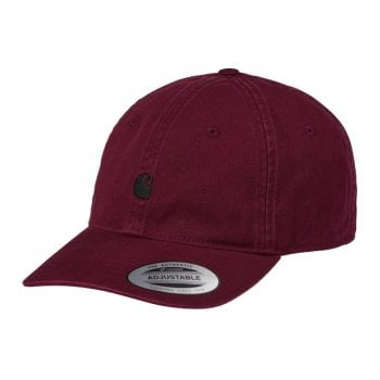 Carhartt Wip Madison Logo Cap in Jam with black embroidered Carhartt C logo
