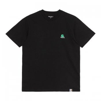 Carhartt Wip short sleeved Trap C T Shirt in Black