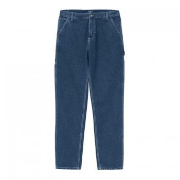 Carhartt Wip Ruck Single Knee Pant in Blue Stone Washed 11.25 oz Norco denim
