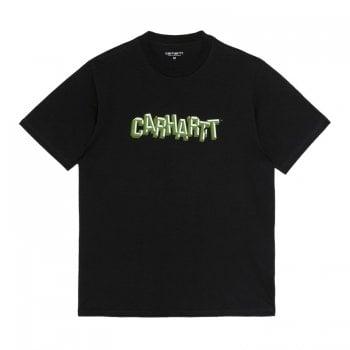 Carhartt Wip short sleeved Shattered Script T Shirt in Dark Navy