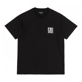 Carhartt Wip short sleeved Fade State T Shirt in Black with white front and back print